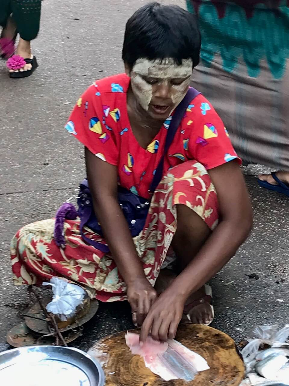 Tradycyjna ochrona twarzy w Birmie
