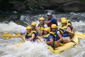 Rafting pontonem